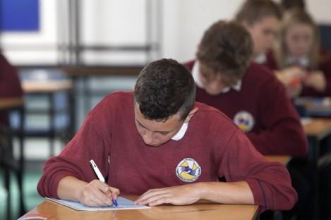 File photo: Junior Certificate students in 2015