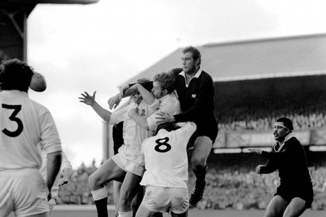 New Zealand's Andy Haden during a test against England.