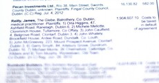 Pictures: James Reilly's name on the Stubbs Gazette defaulters' list