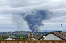 Emergency services in Derry battle large fire visible across the city