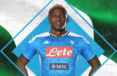 Napoli smash club-transfer record for €50m Nigerian striker Osimhen