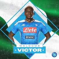 Napoli smash club-transfer record for €50m Nigerian striker Osimhen
