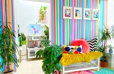 'I used tester pots of paint to create my own wallpaper': Gill shares her candy-striped hallway