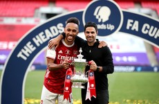 Arteta confident FA Cup final hero Aubameyang will stay at Arsenal