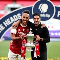 Arteta confident FA Cup final hero Aubameyang will stay at Arsenal
