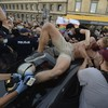 Polish police clash with demonstrators protesting against LGBT activist's arrest