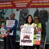 Former Debenhams workers hold protest on Dublin's Henry Street