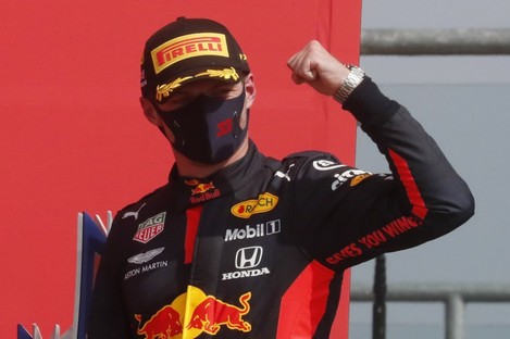 Max Verstappen after winning the Grand Prix.