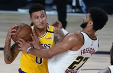 Kyle Kuzma drains last-second shot to push Lakers past Nuggets