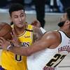 Kyle Kuzma drains last-second shot to push Lakers past Nuggets