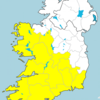 Status Yellow thunder warning issued for several counties