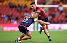 Young Wallaby hot shot scores emotional try as Reds hold off charging Rebels