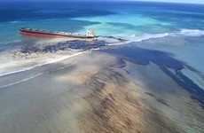 Grounded oil tanker off Mauritius coast splits and leaks more diesel near protected areas