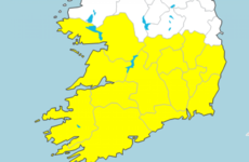 Wet start to the week with Status Yellow rain warning issued for 14 counties