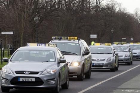 Taxis in Dublin's Phoenix Park.