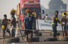 Brazilian indigenous protesters block highway through Amazon demanding help against Covid-19