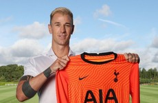 Tottenham complete signing of free agent Joe Hart