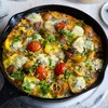 Cheese, Tomato and Potato Skillet
