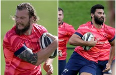 De Allende and Snyman in line for Munster debuts against Leinster