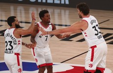 Defending NBA champion Raptors claw out victory over the Nets