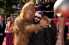 Baseball eccentric Brian Wilson brought 'Brosquatch' as his date to ESPN's annual awards last night