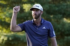 Johnson opens up 5-stroke lead with 40-foot eagle putt at the 18th in Boston