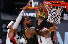 LeBron's Lakers steamroll Blazers, Heat close out Pacers
