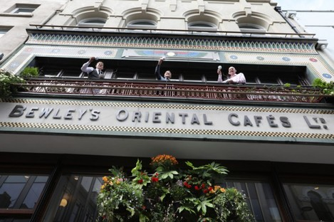 Three generations of the Campbell family pictured at the reopening of the Bewley's Grafton Street cafe.