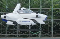 More a motorcycle with propellers, Japanese company unveils its 'flying car'