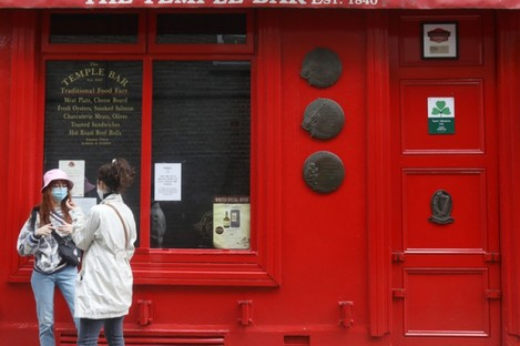 The Temple Bar pub in Dublin remains shuttered.