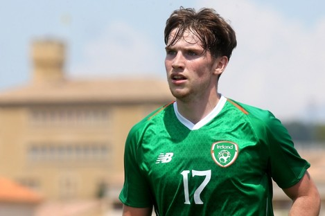 Stephen Mallon playing for the Republic of Ireland U21s at the 2019 Toulon Tournament.
