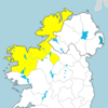 Status Yellow rain warning for four counties as 'localised flooding' possible