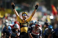 Bennett relinquishes green jersey as Van Aert wins explosive Tour de France stage