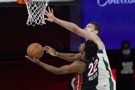 Miami Heat's Jimmy Butler helped his side to the win.