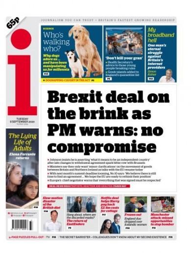 Defiant Boris 'won't back down': UK front pages react to Brexit latest