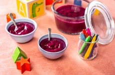 No-Cook Blueberry and Banana Fruit Purée