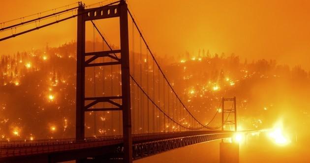 PHOTOS: Wildfires turn sky orange in California