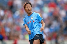 Japan women's football great joins men's team