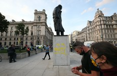 10 days of Extinction Rebellion demonstrations end with naked protesters and graffiti of Churchill statue