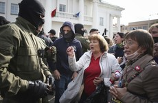 Belarus police detain dozens of female protesters as thousands take to the streets