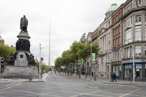 An empty O'Connell Street.