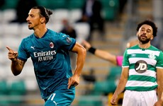 Zlatan on target as classy Milan see off committed Shamrock Rovers