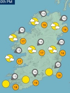 A dry, sunny weekend is in store with temperatures hitting 21 degrees tomorrow