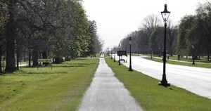 Phoenix Park in Dublin during the April lockdown.