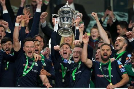 Rovers win the Cup last year.