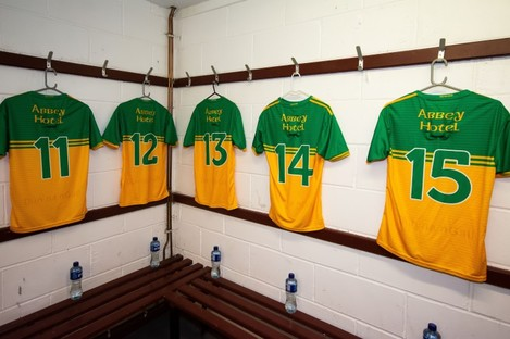 A general view of Donegal jerseys.