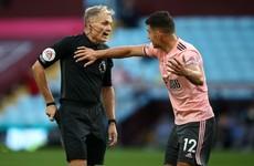 Ireland's Egan controversially sent off as Aston Villa enjoy winning start