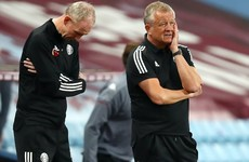 Chris Wilder laments officials' calls in loss to Villa