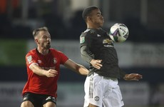 Mason Greenwood offered heading practice after Man United win