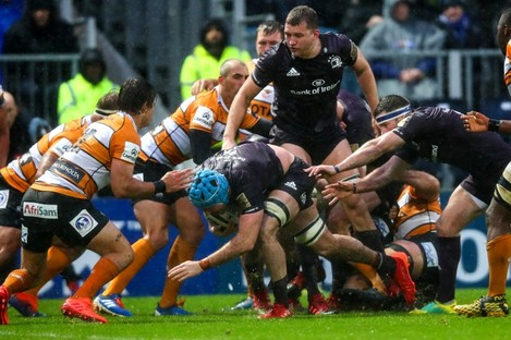 Action from the game between Leinster and Toyota Cheetahs in February.